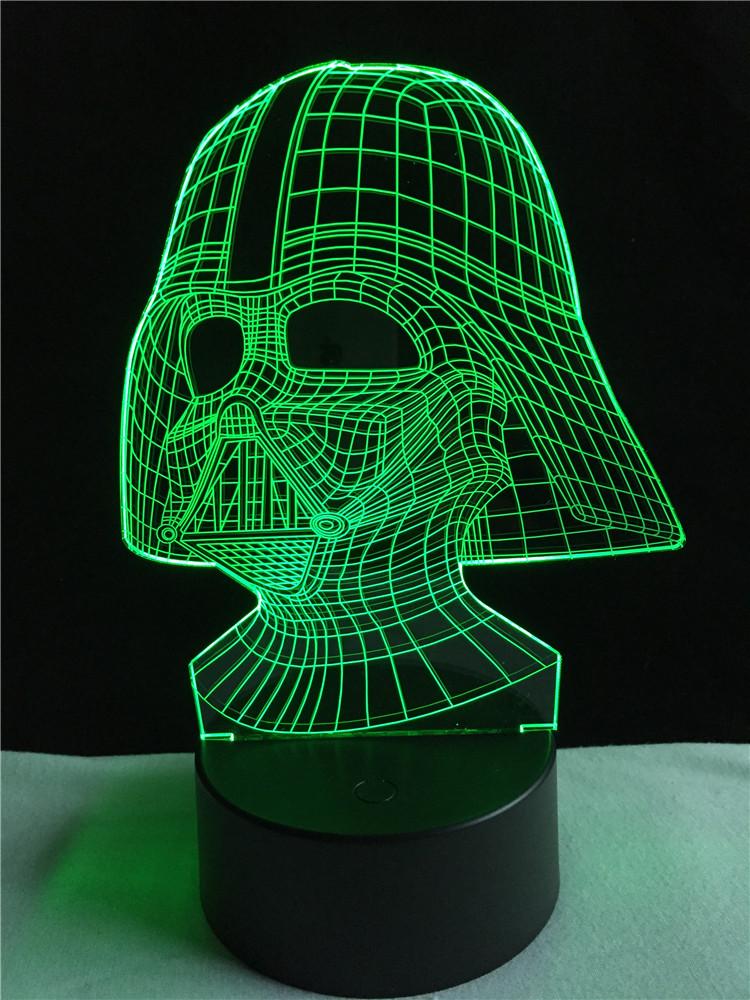 Lampara 3D Dark Vader
