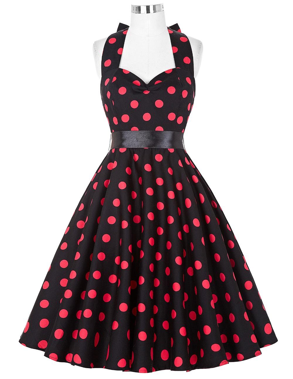 Vestido de Lunares Rockabilly negro/rojo