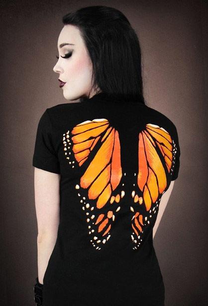 Camiseta Alas Mariposa Naranjas