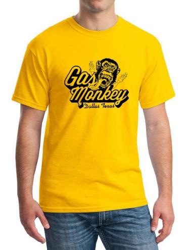 Camiseta Gas Monkey Amarilla