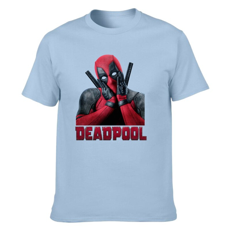 Camiseta Deadpool Azul Claro Unisex 02