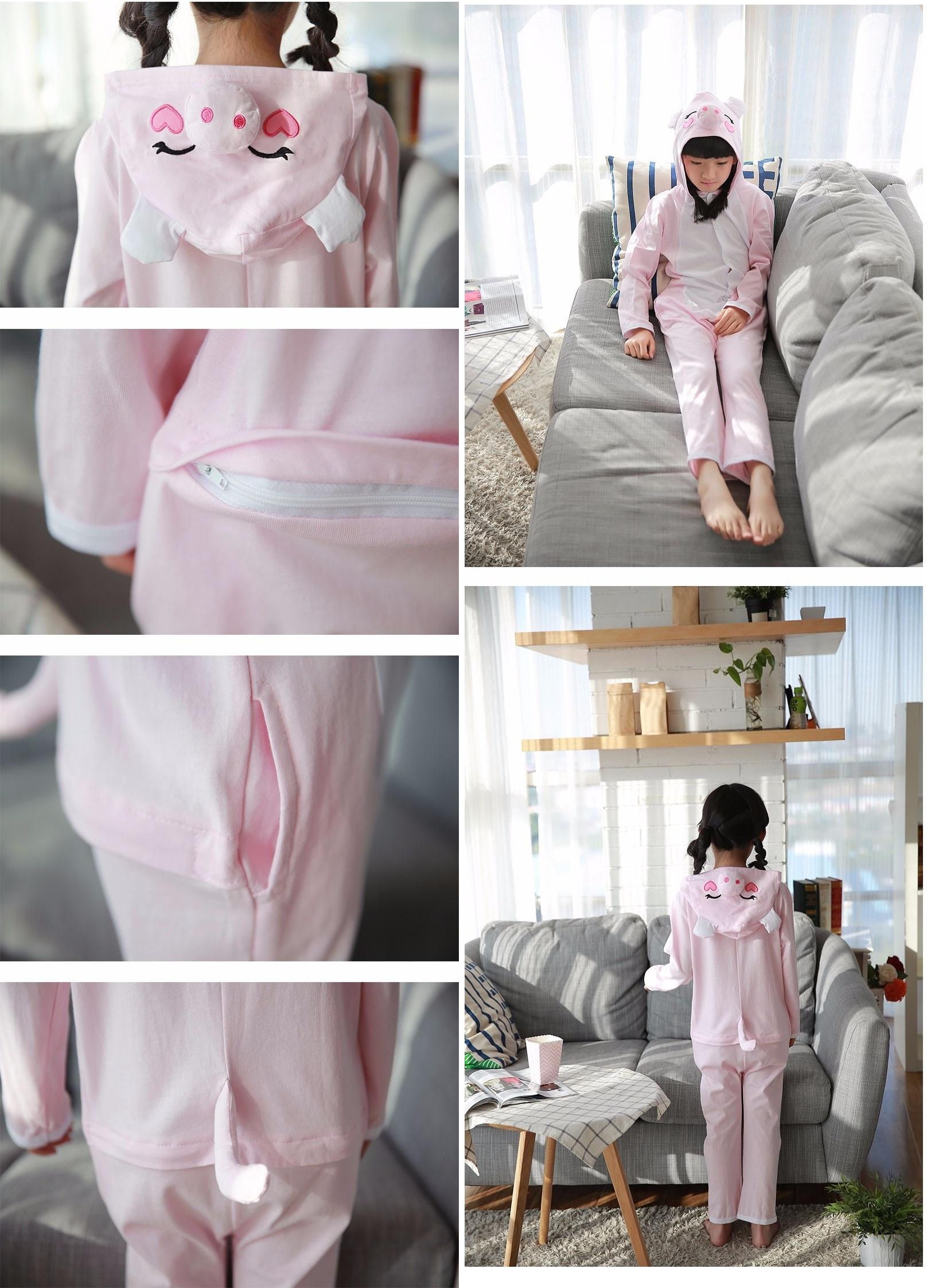 Pijama Completo de Cerdito para niñas
