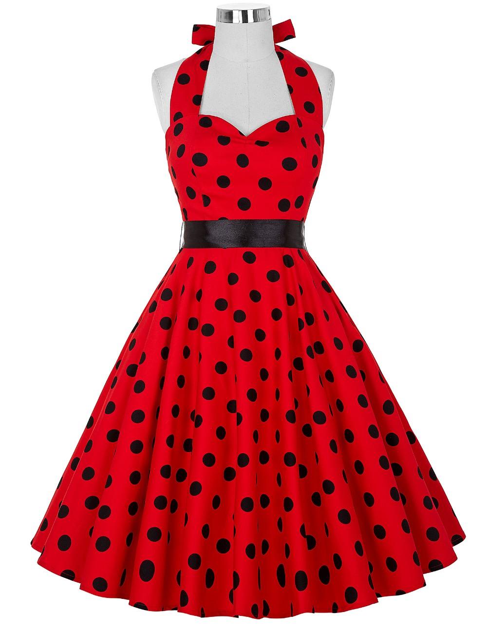 Vestido de Lunares Rockabilly rojo/negro