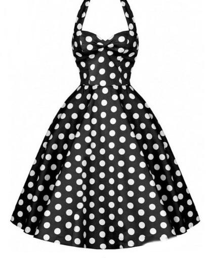 Vestido estilo Audrey Hepburn negro