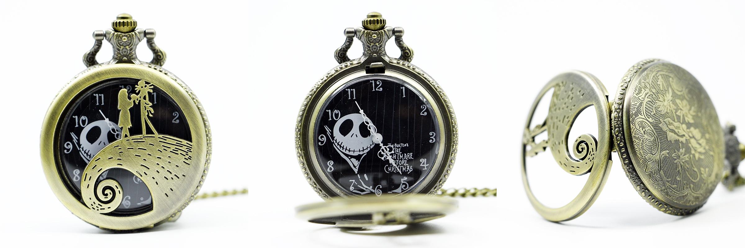 Reloj de Bolsillo Jack y Sally Bronce