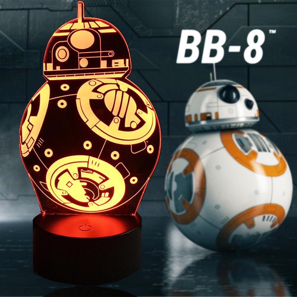 Lampara 3D BB8