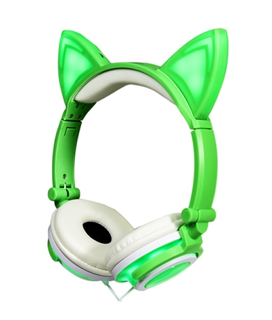 Auriculares Orejas de Gato Verdes