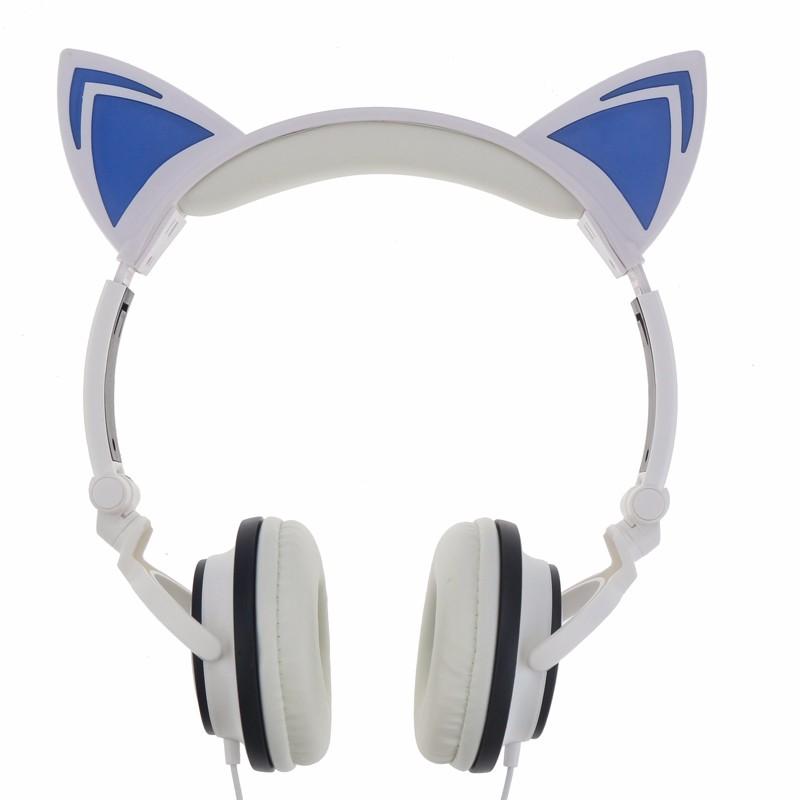 Auriculares Orejas de Gato Blancos