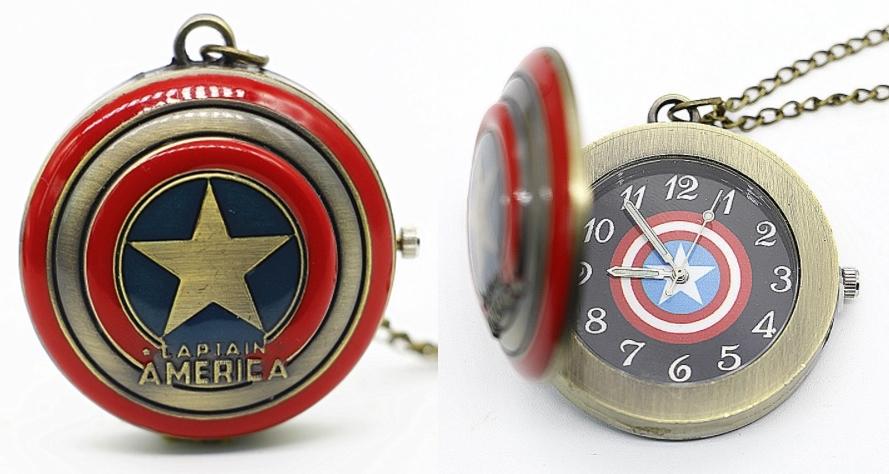 Reloj de Bolsillo Capitán América Bronce