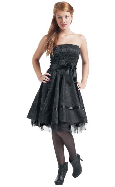 Vestido Negro Saten Floral