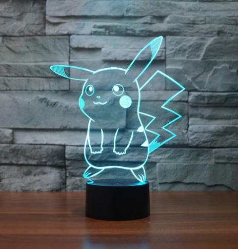 Lampara 3D Pikachu 02