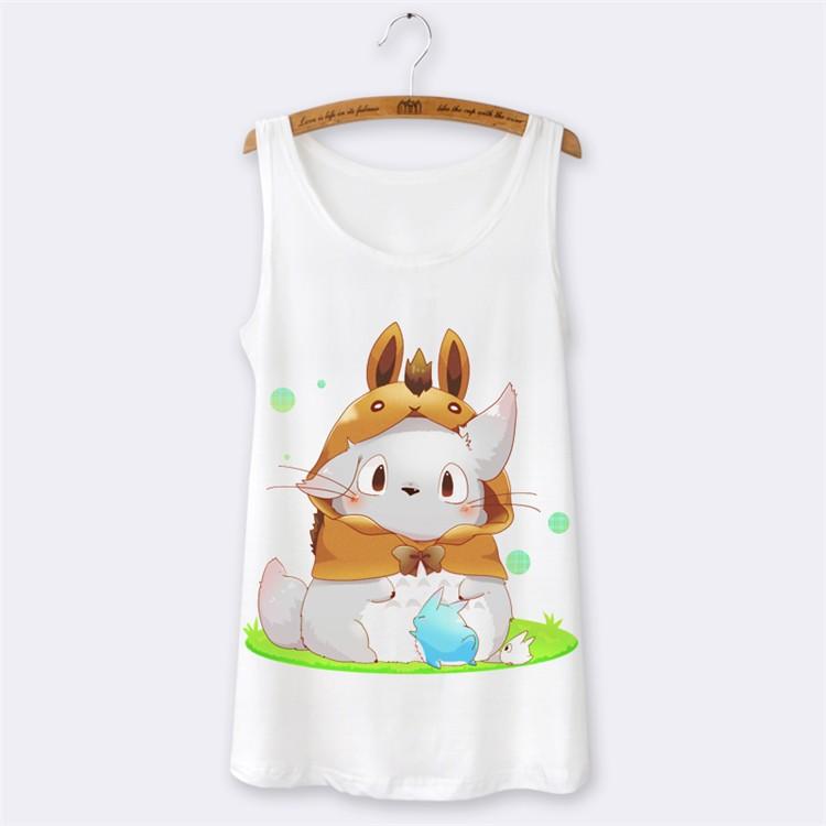 Camiseta tirantes Totoro Blanca *01