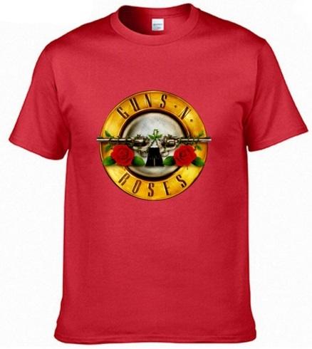 Camiseta Guns & Roses roja