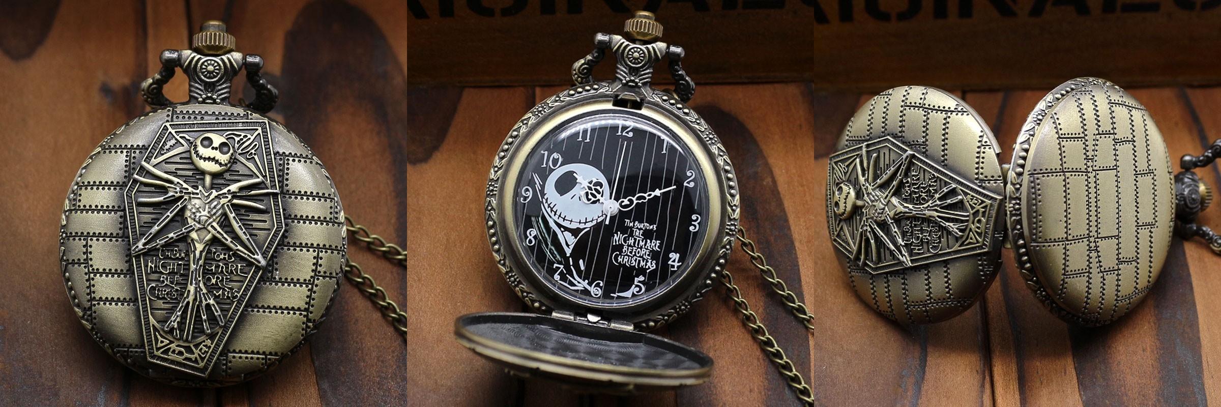 Reloj de Bolsillo Pesadilla antes de Navidad