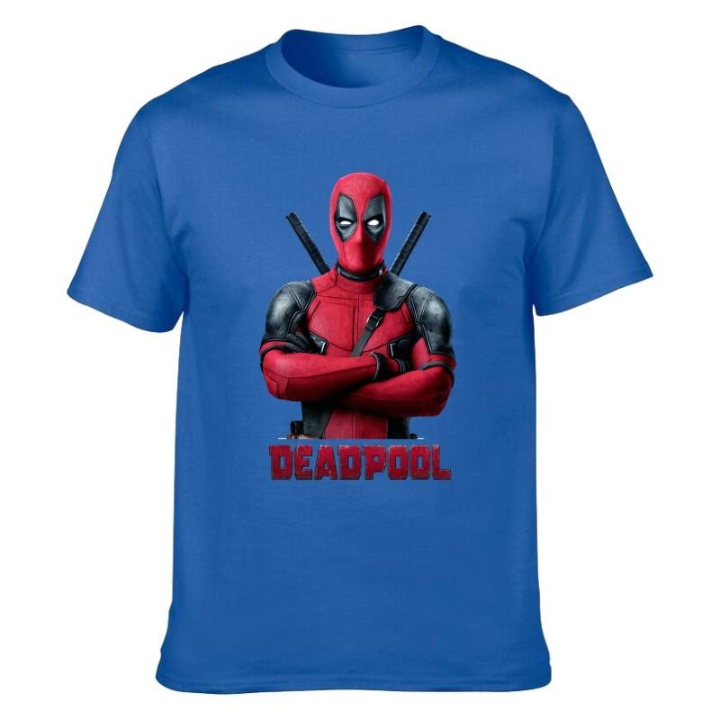 Camiseta Deadpool Azul Unisex