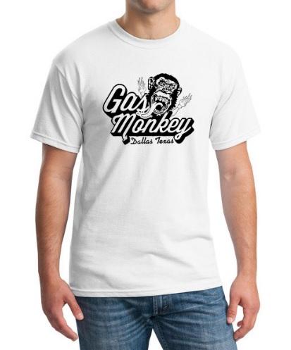 Camiseta Gas Monkey Blanca