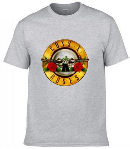 Camiseta Guns & Roses gris