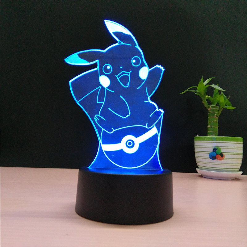 Lampara 3D Pikachu