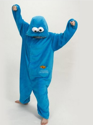 Pijama de Franela Completo Monstruo de las Galletas