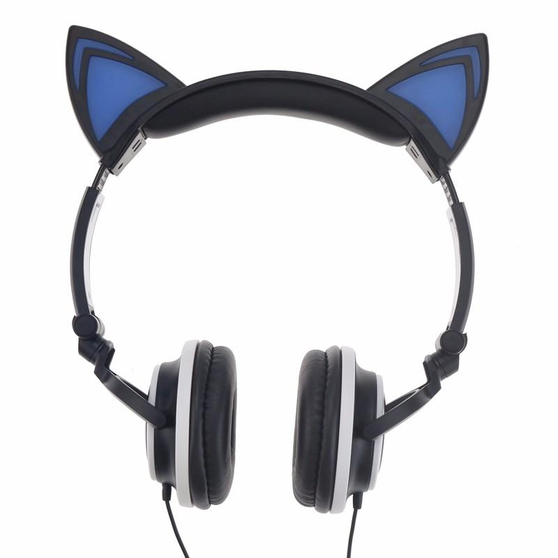 Auriculares Orejas de Gato Negros