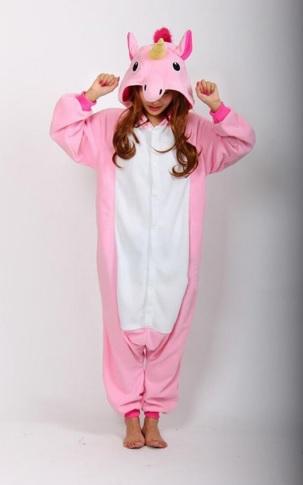 Pijama de Franela Completo Unicornio Rosa