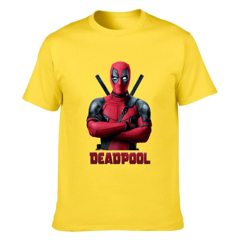Camiseta Deadpool Amarilla Unisex