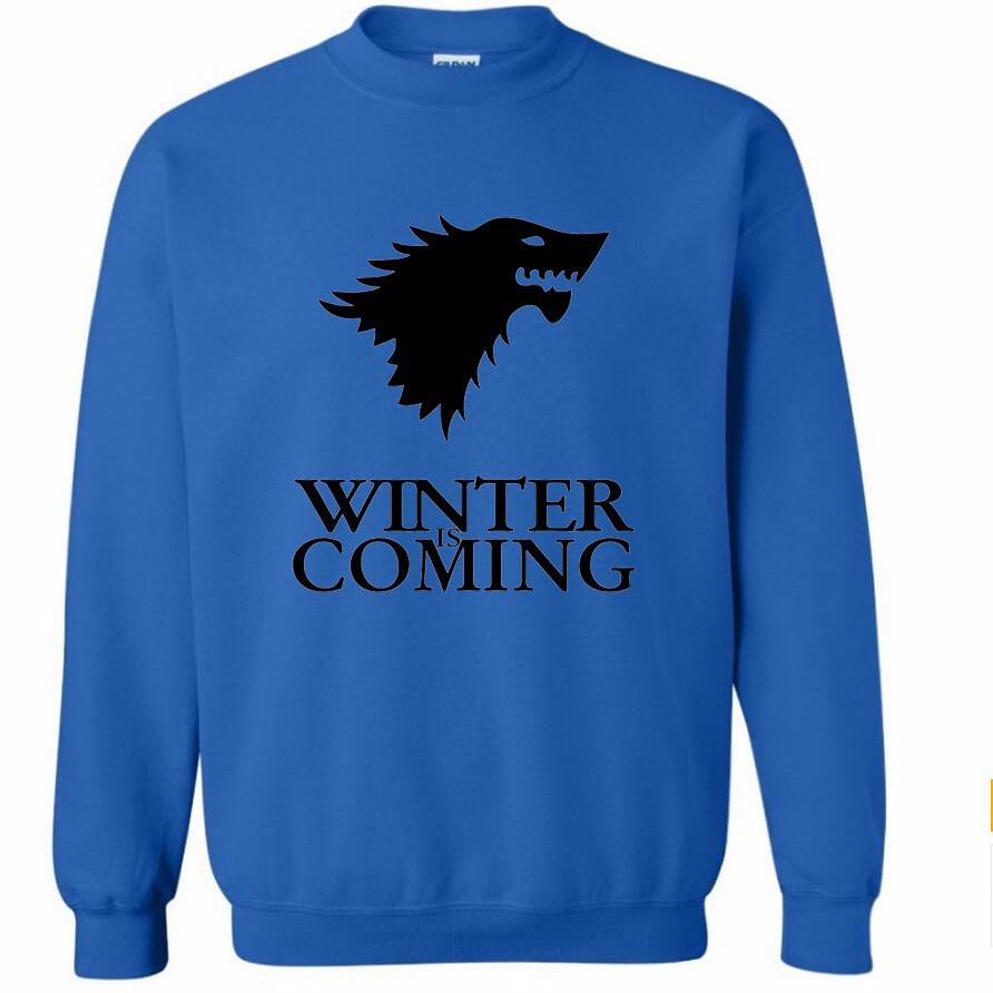 Sudadera Winter is Coming Azul (Logo negro)