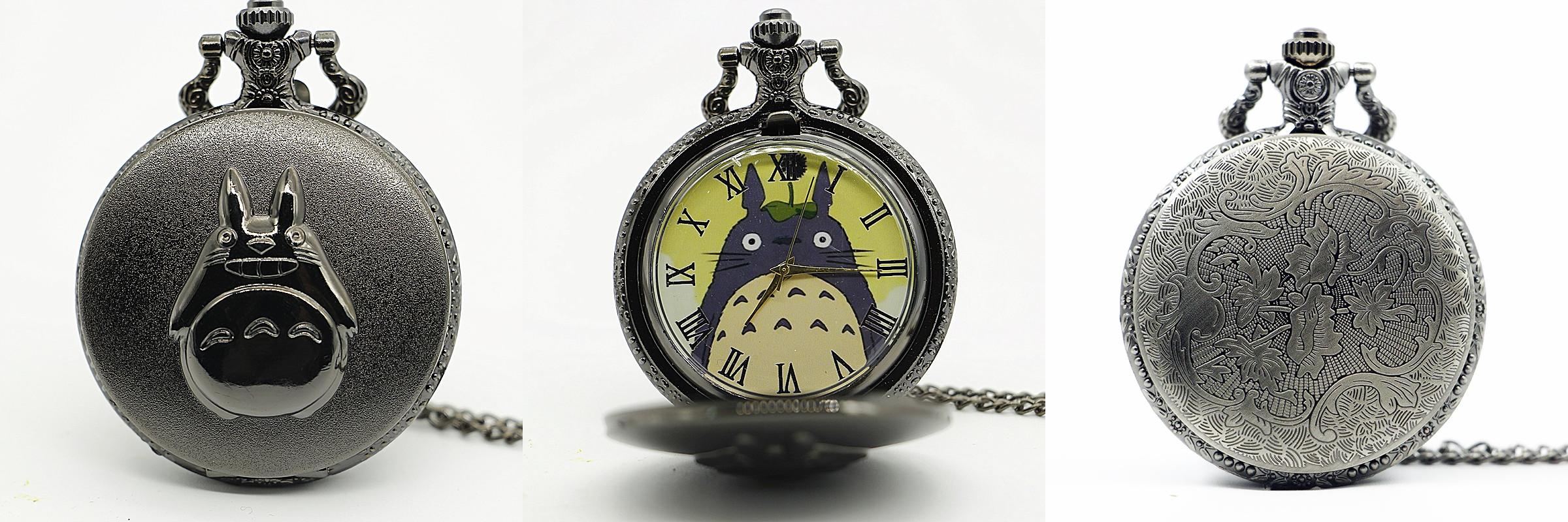 Reloj de Bolsillo Totoro Negro