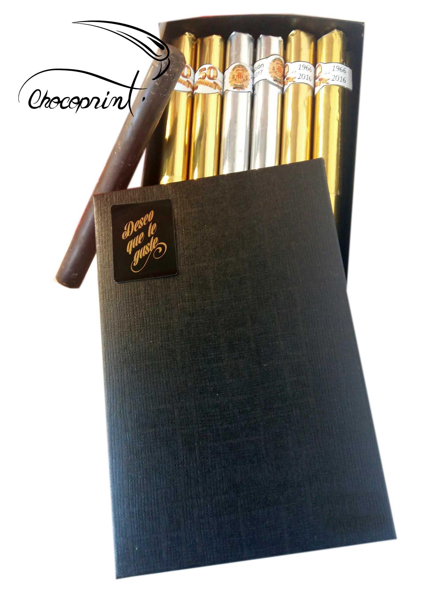 CAJA DE PUROS DE CHOCOLATE