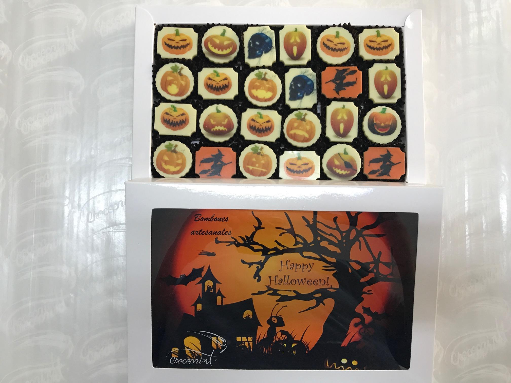 Caja 24 bombones Halloween