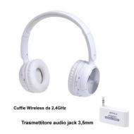 CUFFIE WIRELESS 2,4GHz CON RICETRASMETTITORE