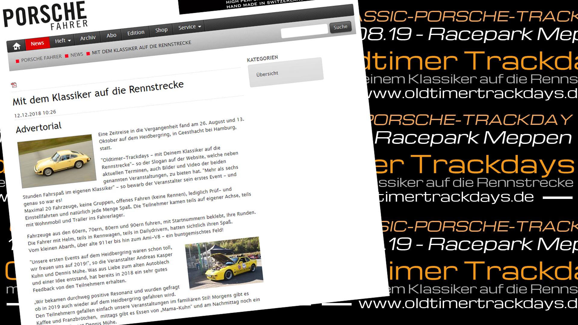 Porsche Trackday Oldtimer