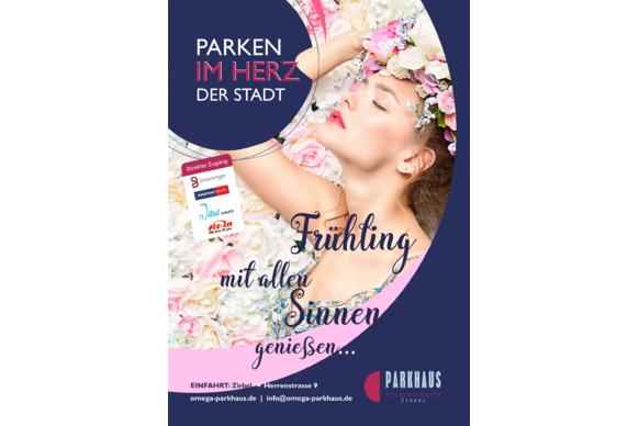 In Karlsruhe zentral parken, Tageslicht Parkhaus,