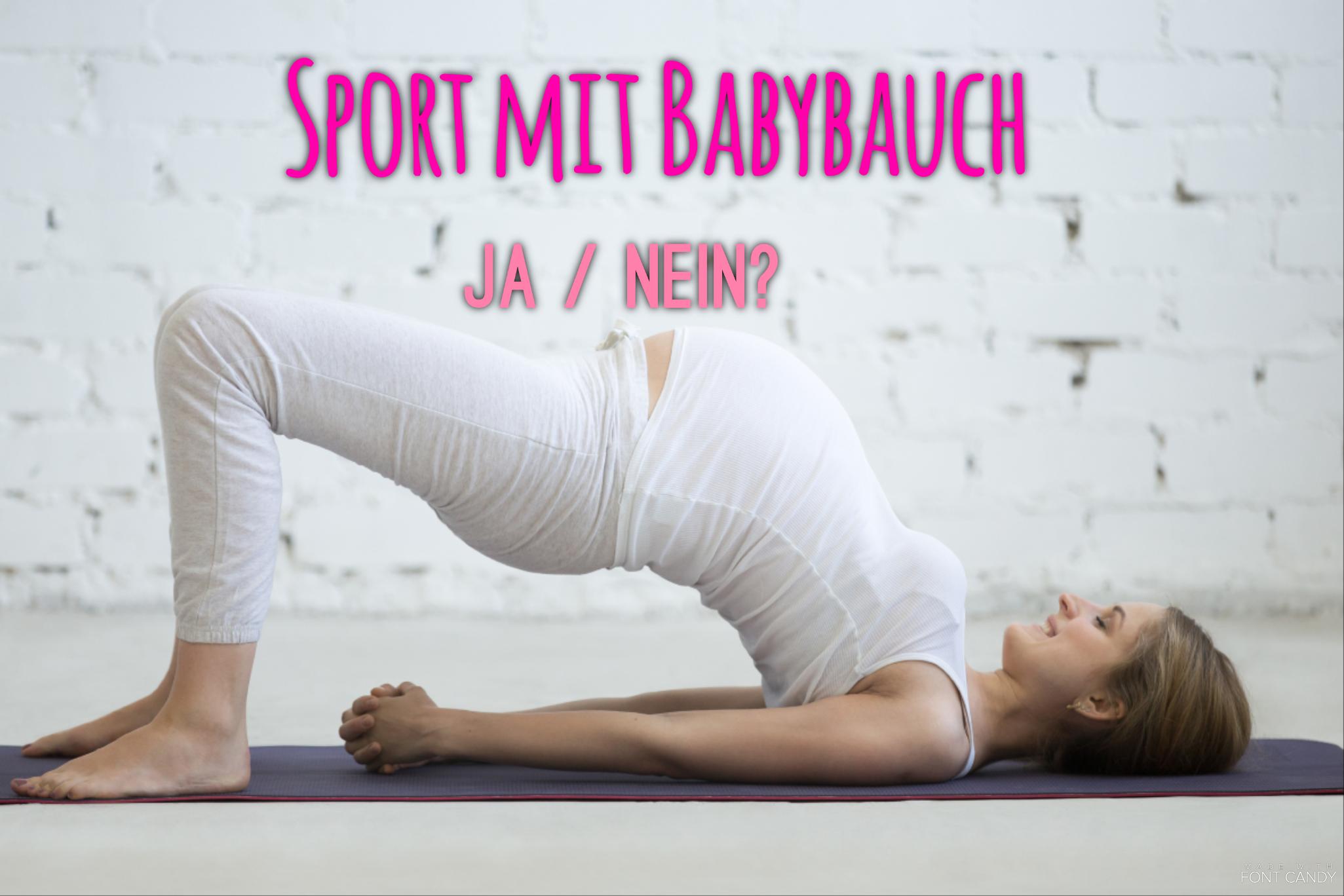 Sport während der Schwangerschaft? Ja / Nein
