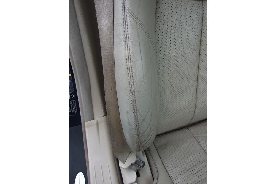 damaged leather before