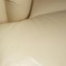 close up of leather repair