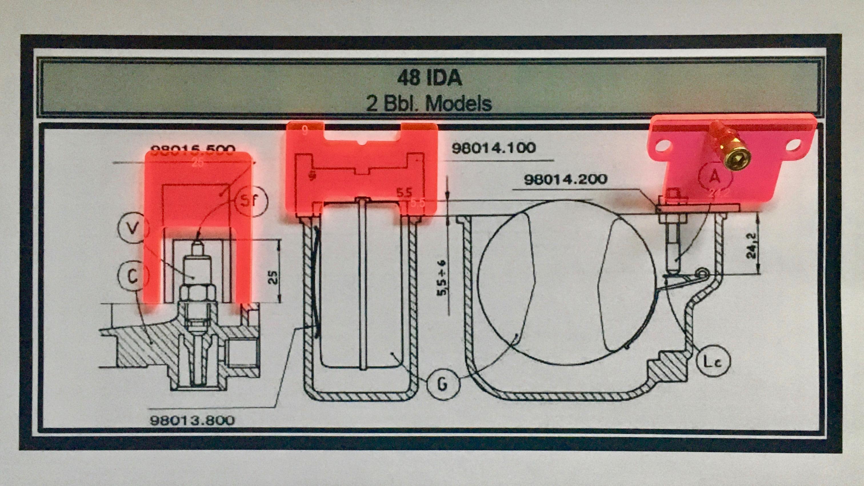 WEBER 48IDA Float level Set