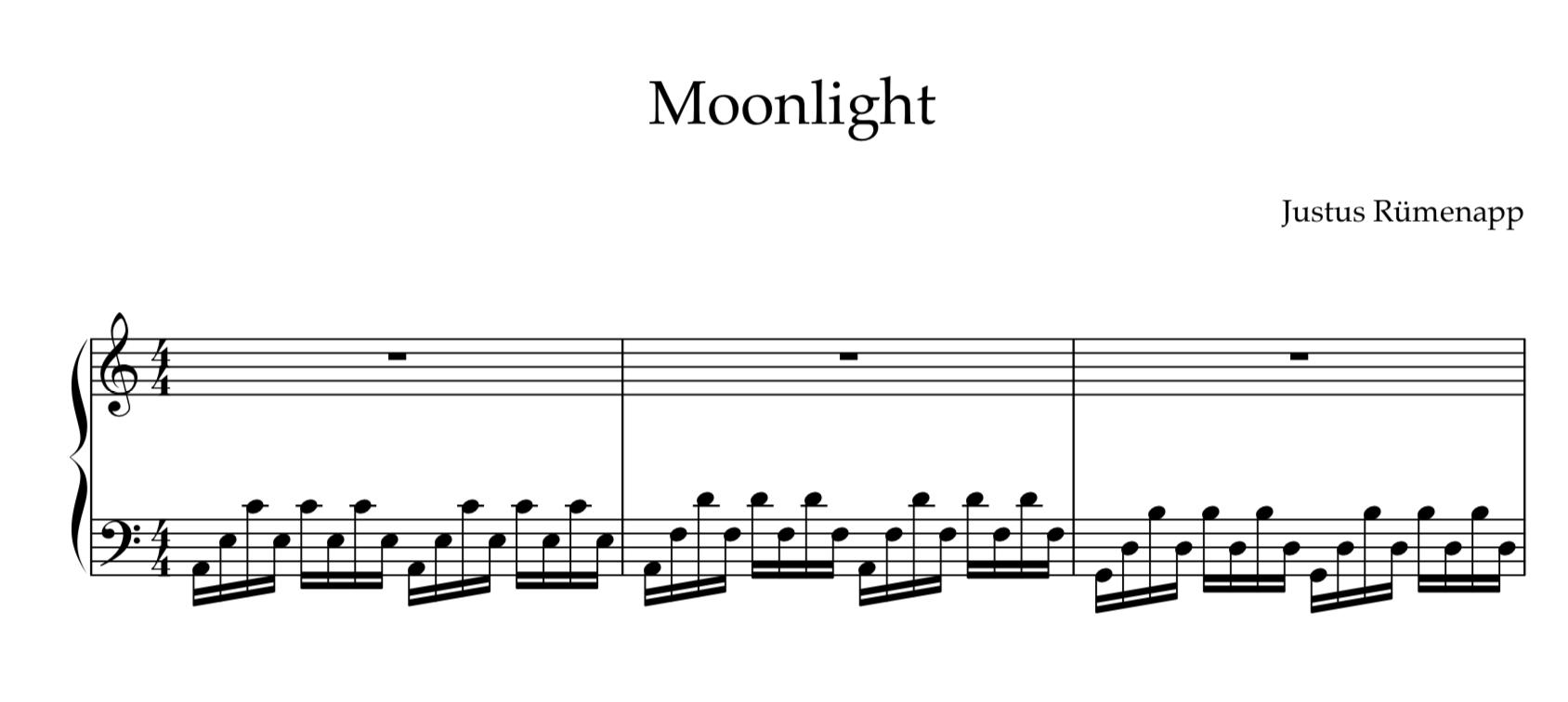 Moonlight - Justus Rümenapp Score