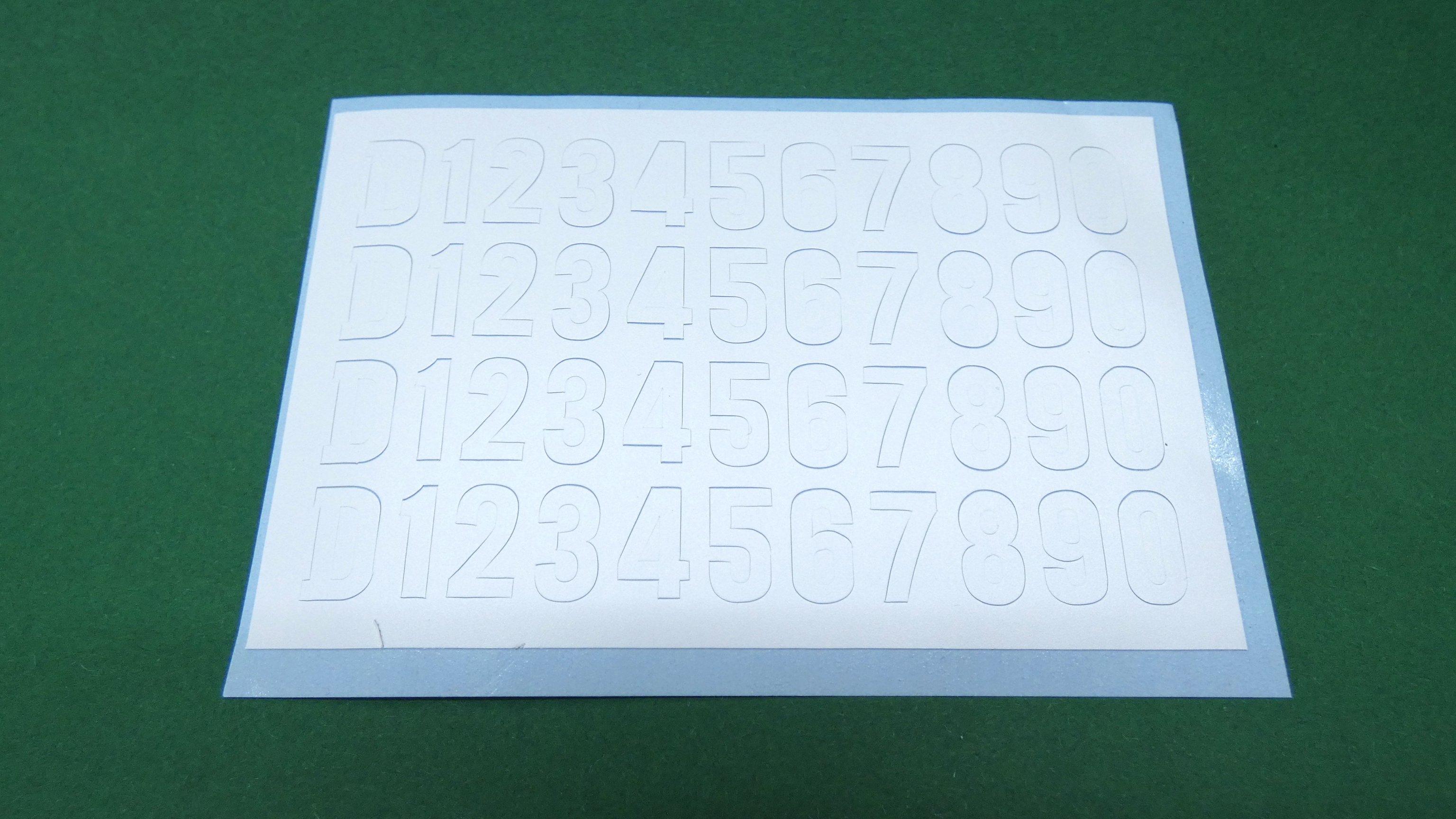 5 inch Gauge Diesel Cab Lettering Self Adhesive Vinyl