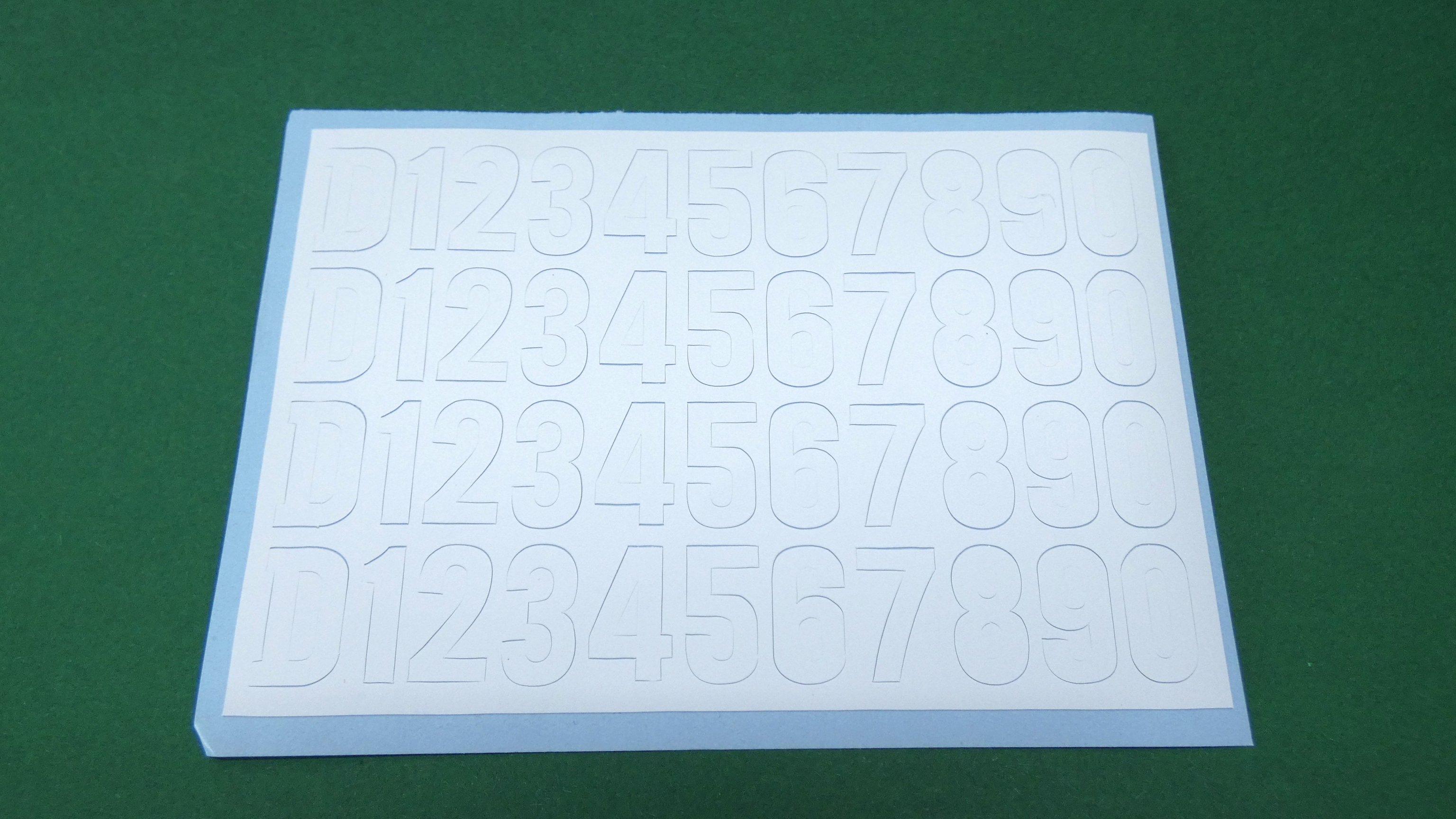 7 1/4 inch Gauge Diesel Cab Lettering Self Adhesive Vinyl