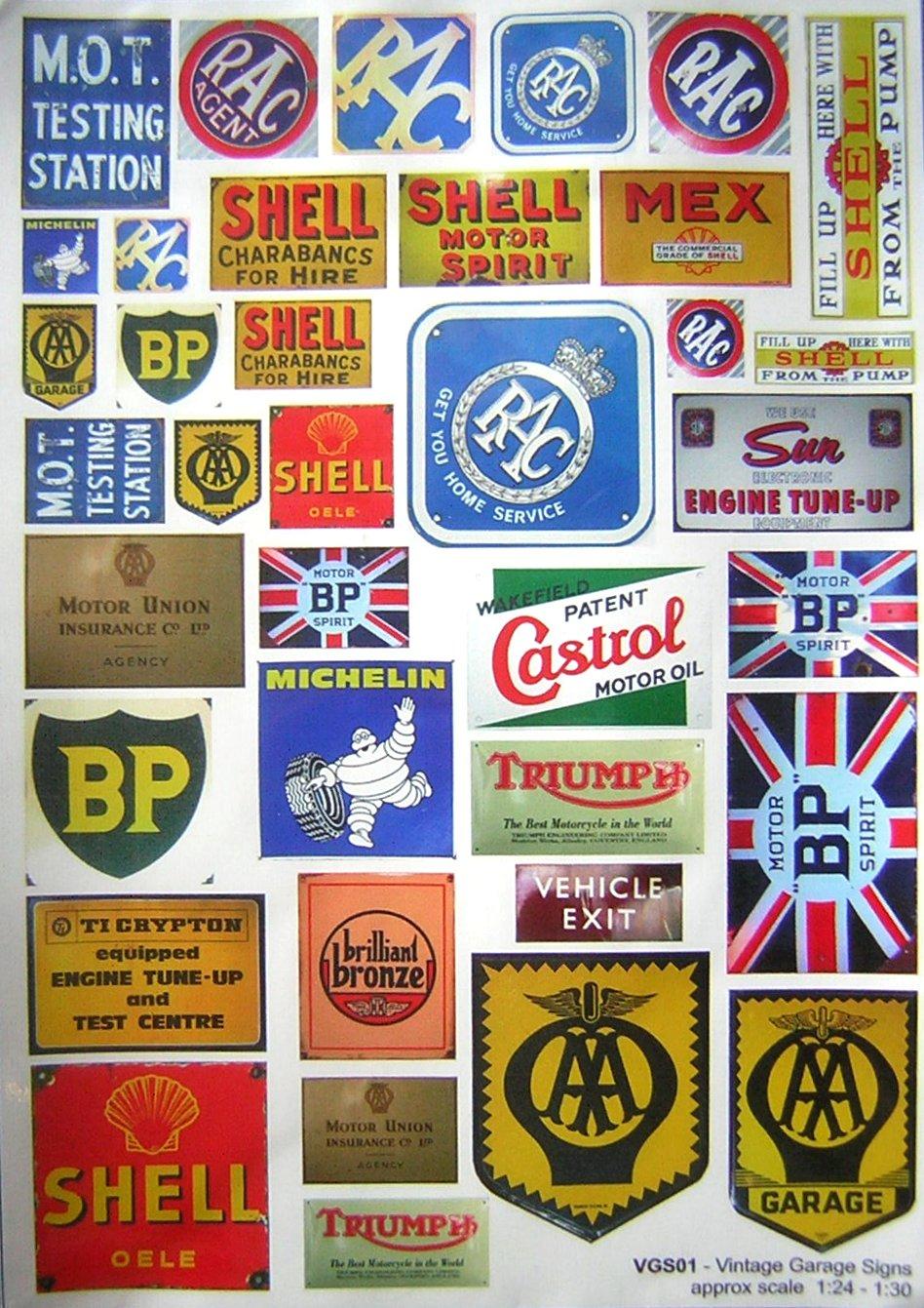 Riverside model engineering garage signs for Vintage garage signs uk