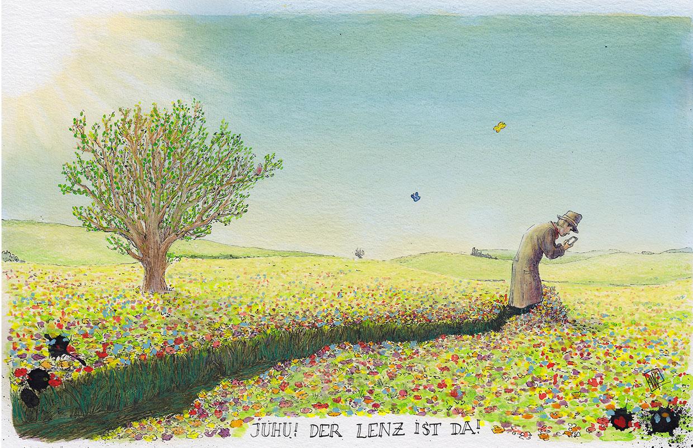 Signierter Kunstdruck, Robitzkys Welt-115- Lenz
