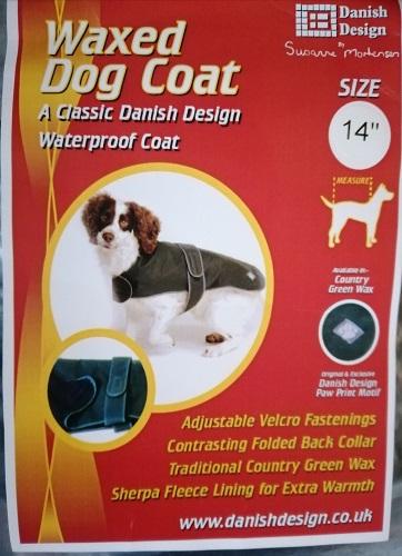Danish Design Waxed  Dog Coat Country Green