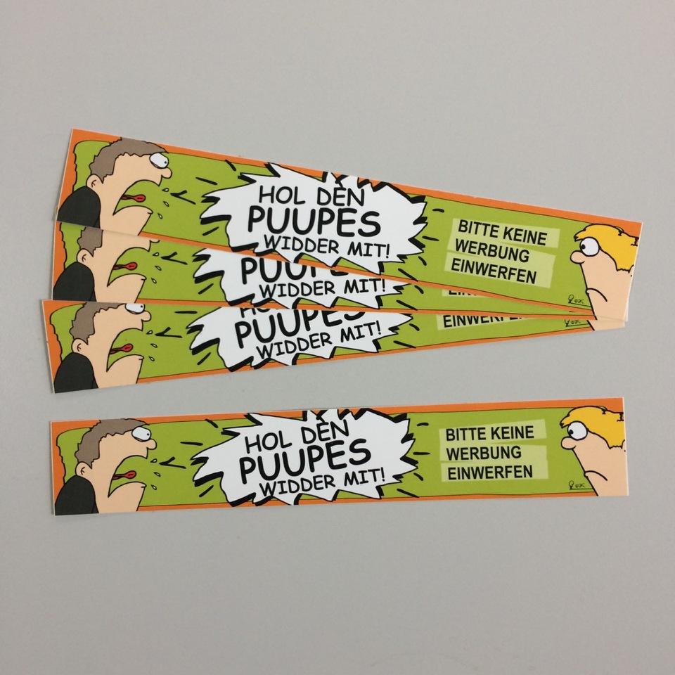 """Briefkastenaufkleber """" PUUPES """""""