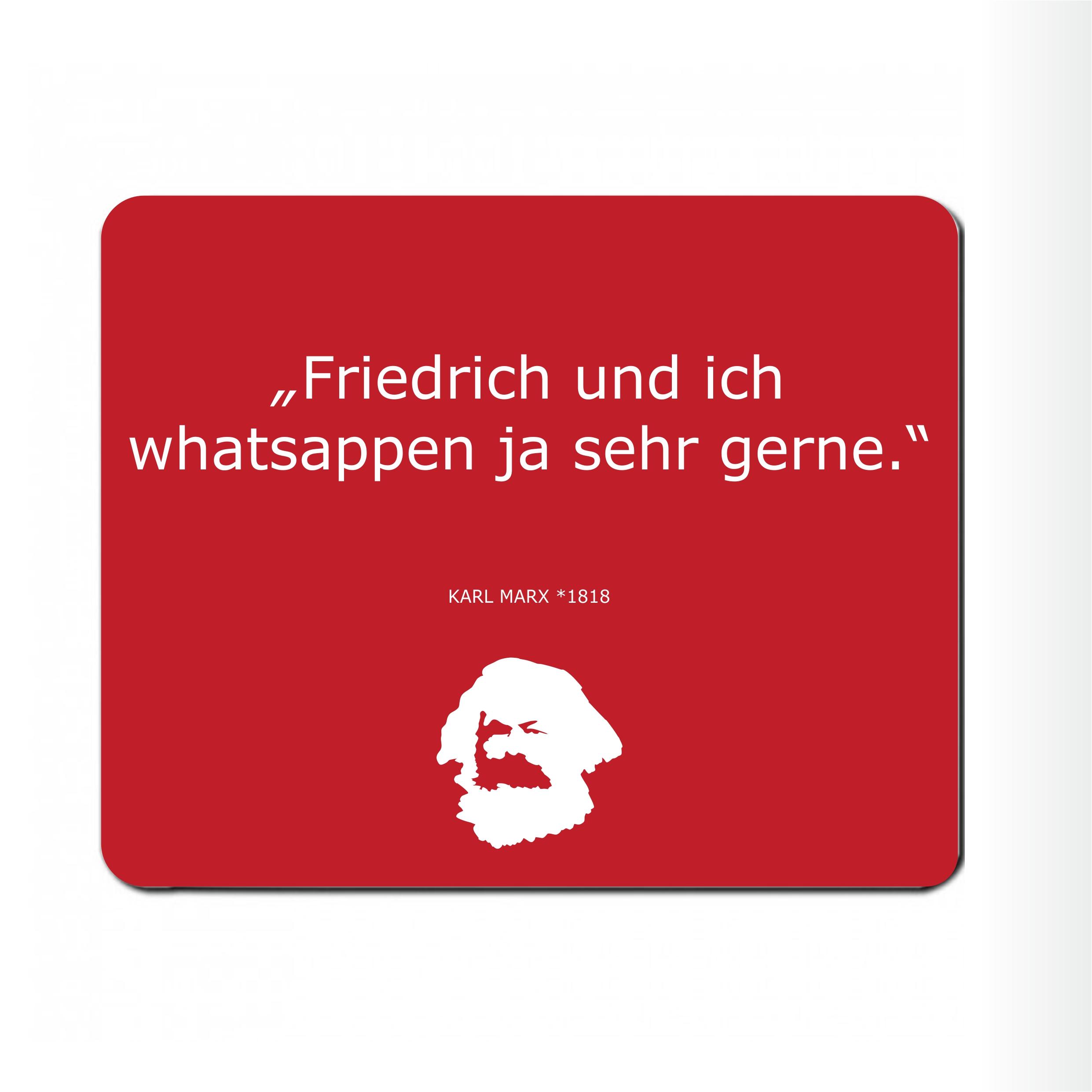 """Mousepad """" Friedrich und Ich"""""""