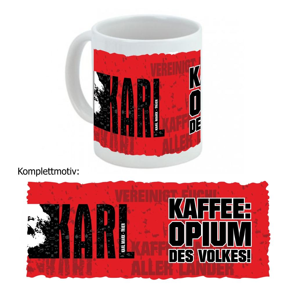 """Kaffeetasse """" Opium fürs Volk """""""