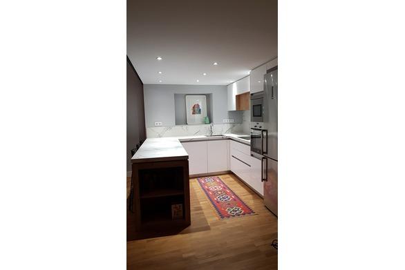 cocina en loft de Madrid