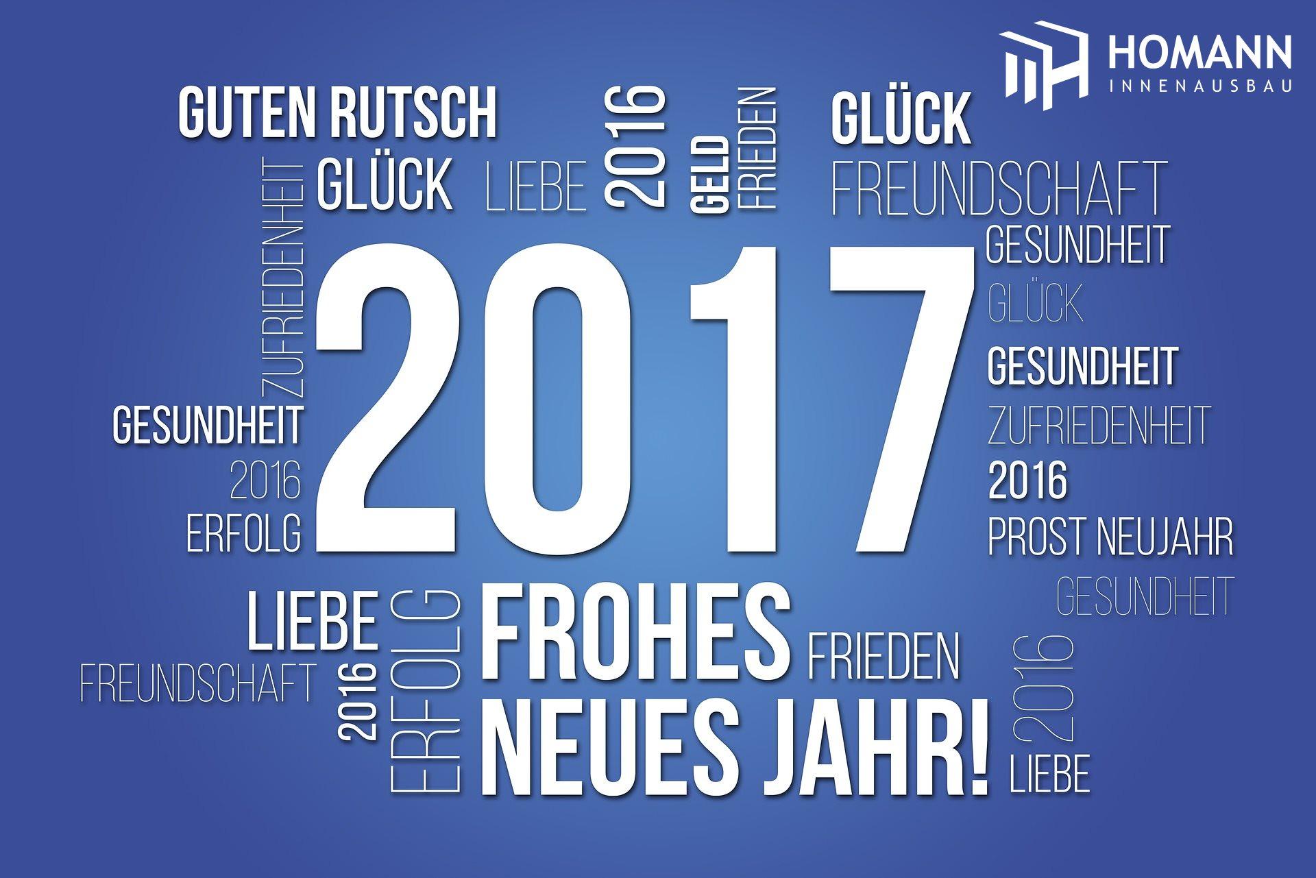 Frohes Neues Jahr 2016, Trockenbaufachbetrieb