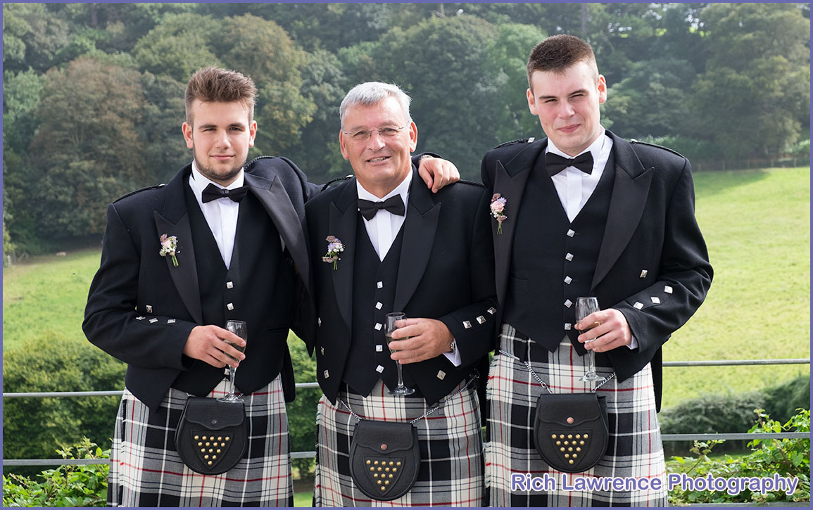 Wedding lads in kilts