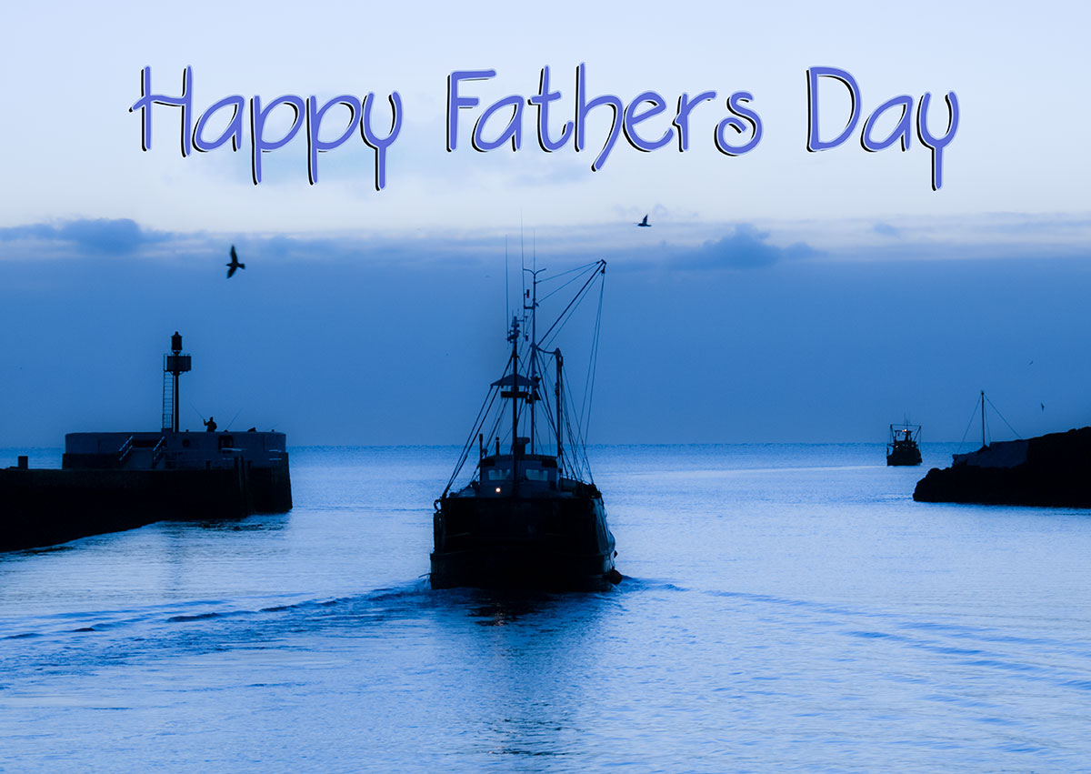 Fathers day card with boats